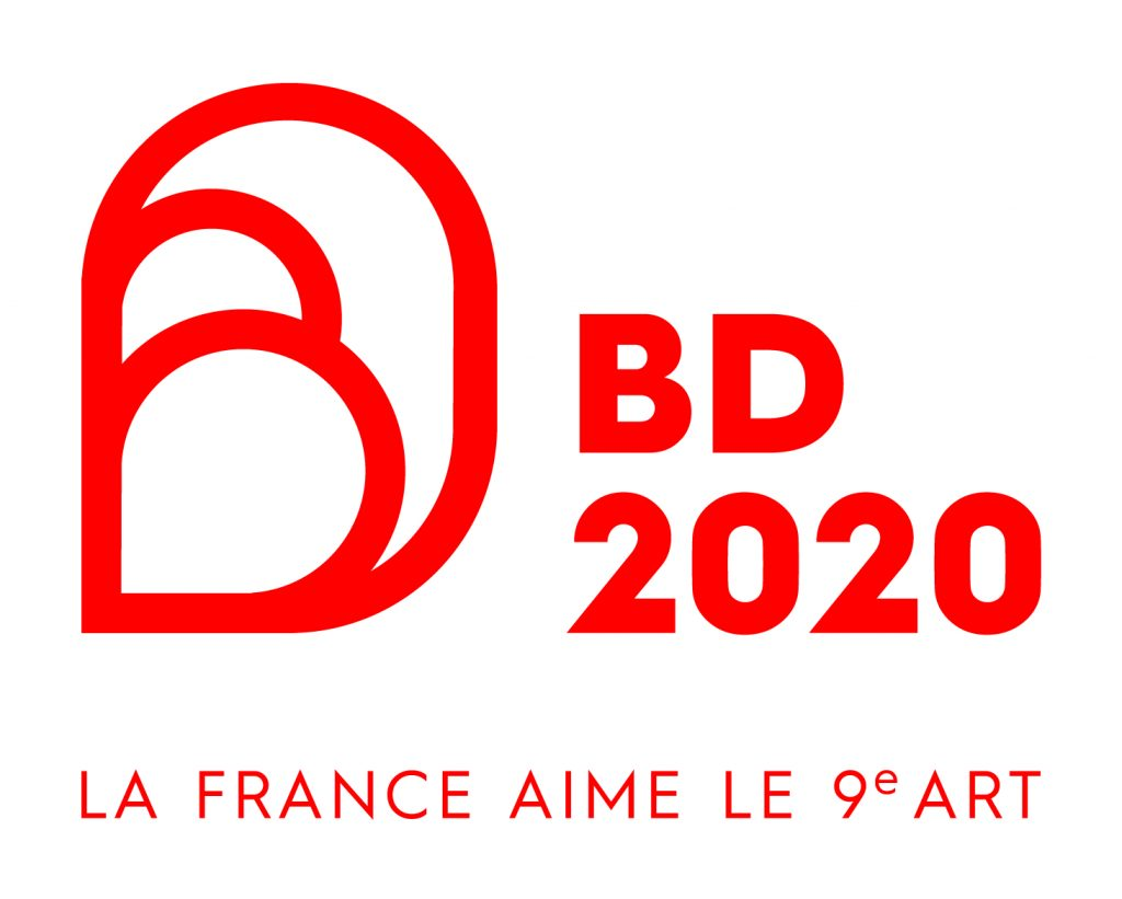 Logo institutionnel 2020 année de la Bande Dessinée en France
